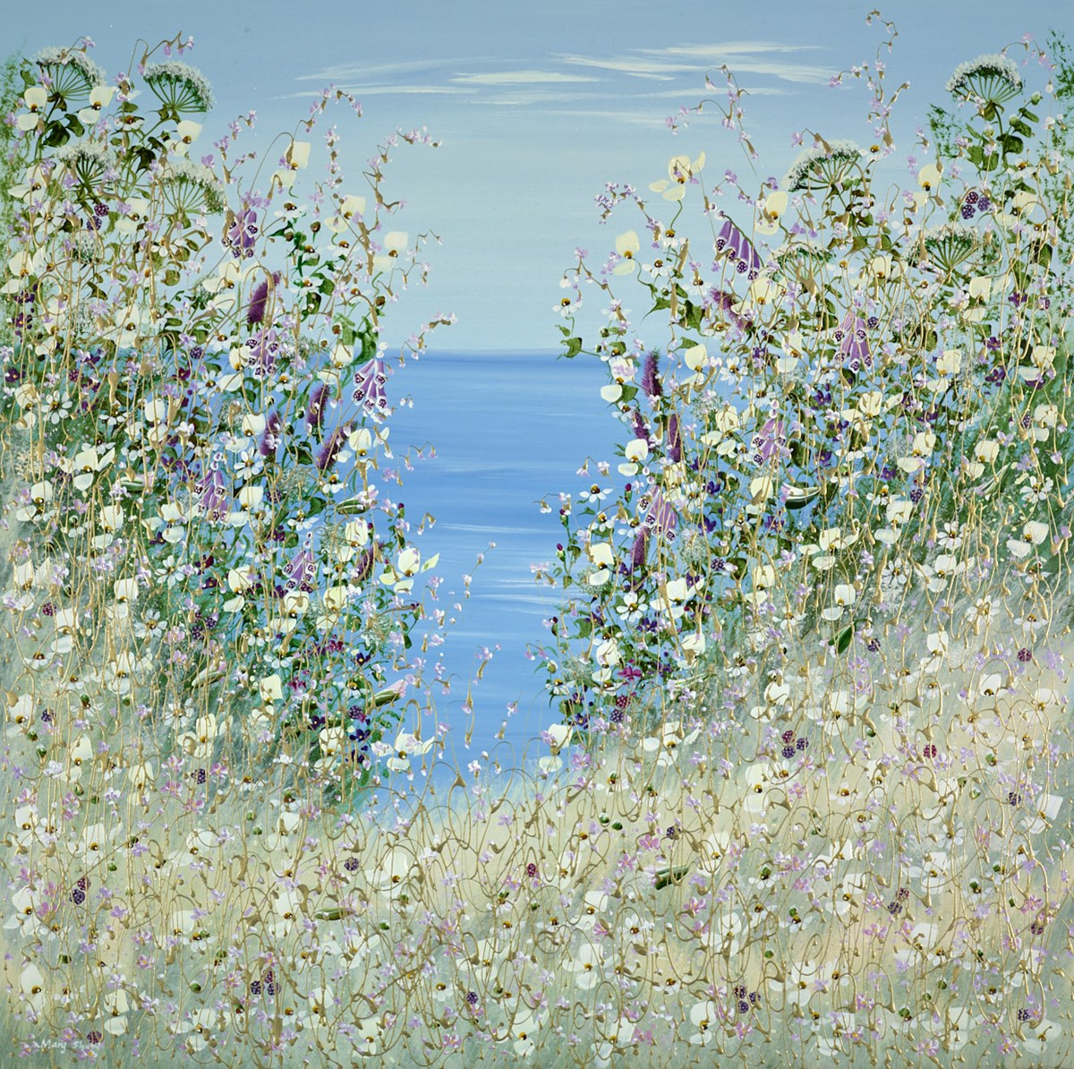 A Day at the Sea II by mary shaw -  sized 40x40 inches. Available from Whitewall Galleries