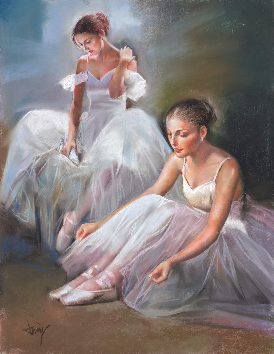Las Bailarinas II by domingo -  sized 20x26 inches. Available from Whitewall Galleries